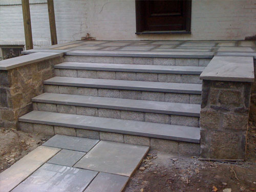 Repaired stairs